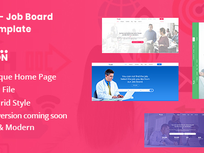 Lipson - Job Board PSD Template (Corporate)