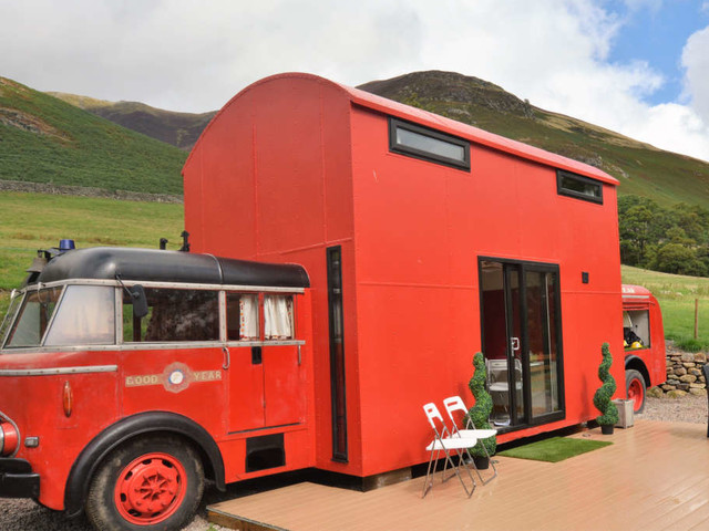 You Can Slide Down an Actual Pole in This Converted Fire Truck — House Call