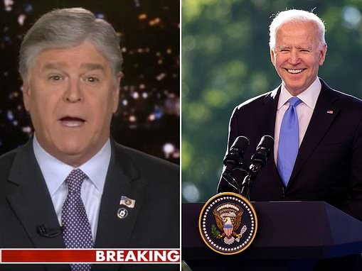 'At times he seems lost, dazed and confused': Hannity asks why Biden does not answer questions