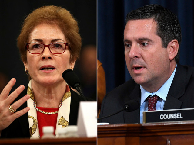 Devin Nunes slams Marie Yovanovitch as 'not a material fact witness'