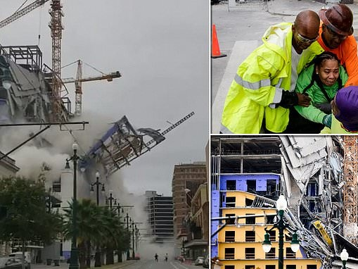 Death toll rises to two with one still missing after Hard Rock Hotel in New Orleans COLLAPSED
