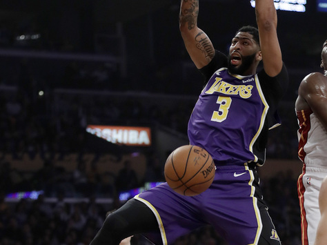 Davis' 26 send Lakers past Heat 95-80 for 7th straight win