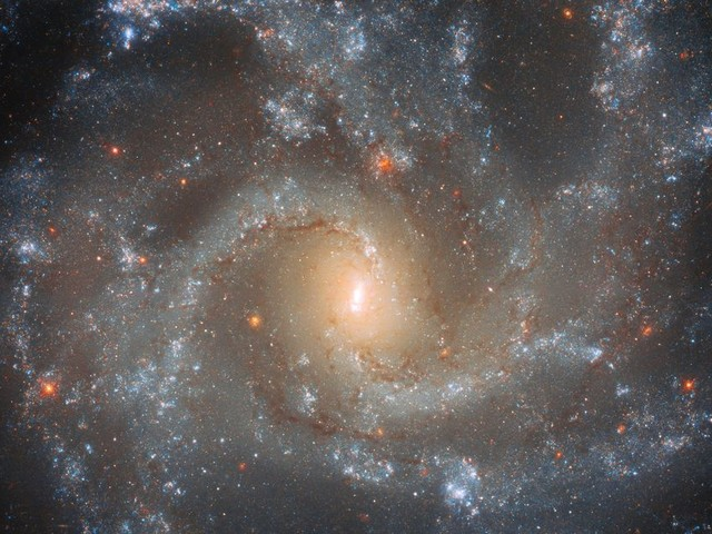 Hubble offers the most perfect view of a gorgeous spiral galaxy