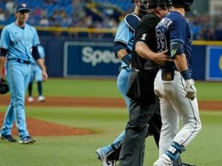 Kiermaier hit after scouting report flap; Rays to playoffs