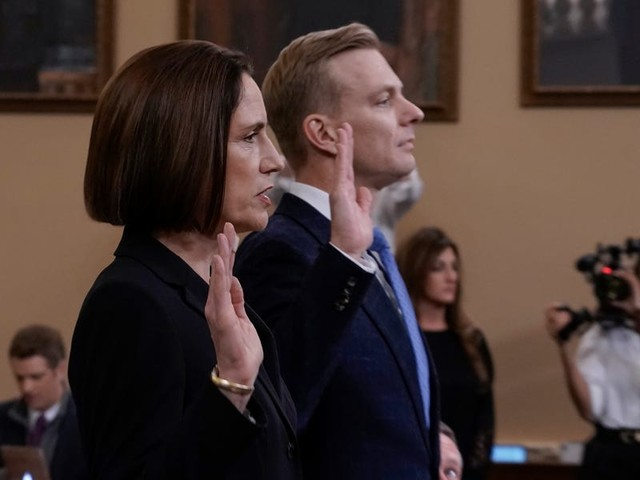 Fiona Hill and David Holmes gave powerful testimony about how everything was about to 'blow up' with Trump and Ukraine. Here are the biggest takeaways from their impeachment-inquiry hearing.