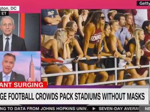 As NFL Season Kicks Off, Fearmongering Fauci Frets Over Unvaxx'd Attending Games