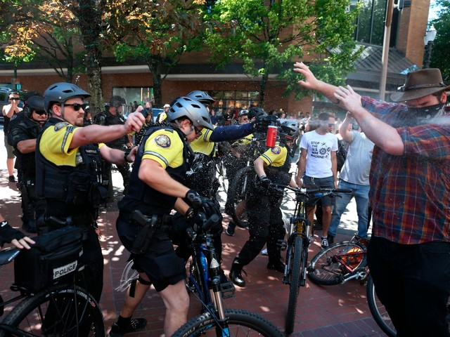 'We don't want you': Portland warns it won't tolerate violence around far-right rally