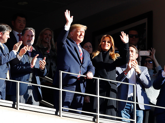 Trump met with cheers at Alabama-LSU game