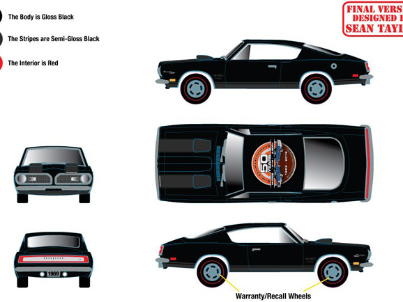 Carlisle Events Chrysler Nationals' commemorative 1969 Plymouth Barracuda M-Code 440