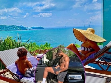 Tristan Thompson & Jordan Craig Must Be Past Their Court Drama Because They're On Vacay With Their Son In Jamaica
