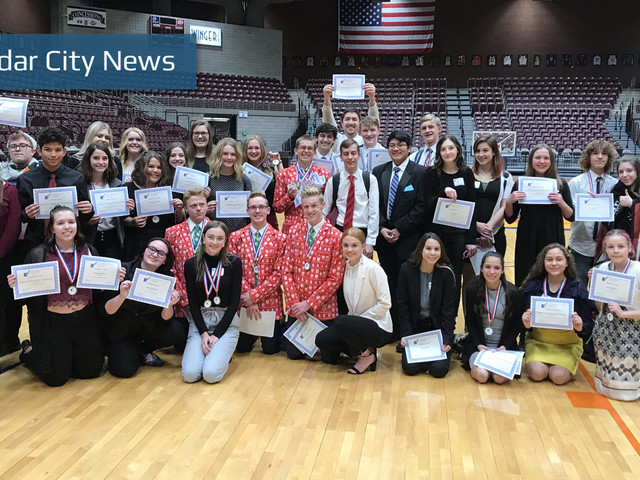Cedar High students take 1st place in regional FBLA, DECA events
