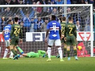 Precious win for 5-star Sampdoria in Serie A