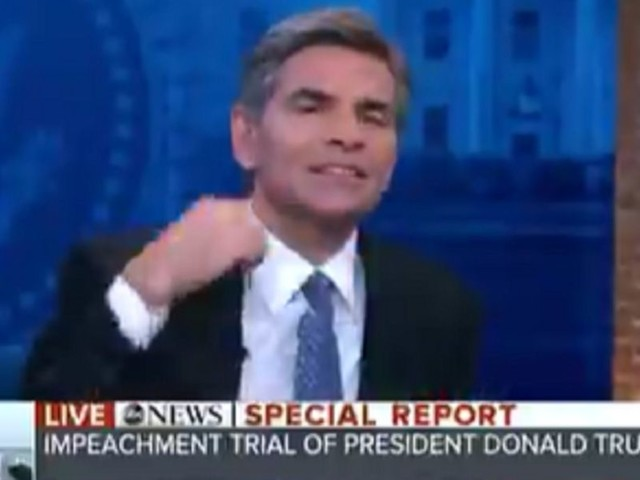 Watch: Stephanopoulos caught on air frantically signaling to cut feed of Trump attorney's presser