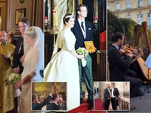 Prince Rostislav marries his Greek property consultant girlfriend in a lavish ceremony in Paris