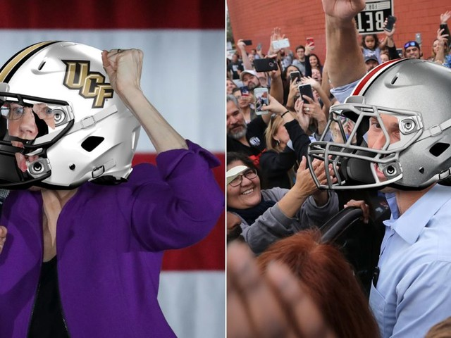 2020 presidential candidates as college football teams