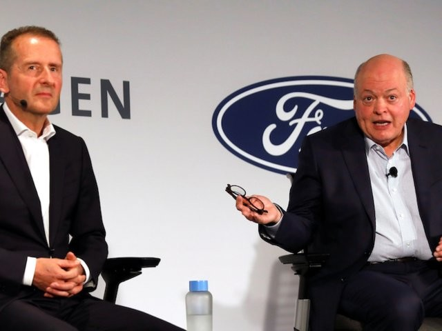 Ford and VW have stepped up their alliance — Ford will develop an electric vehicle using VW tech by 2023 (F)