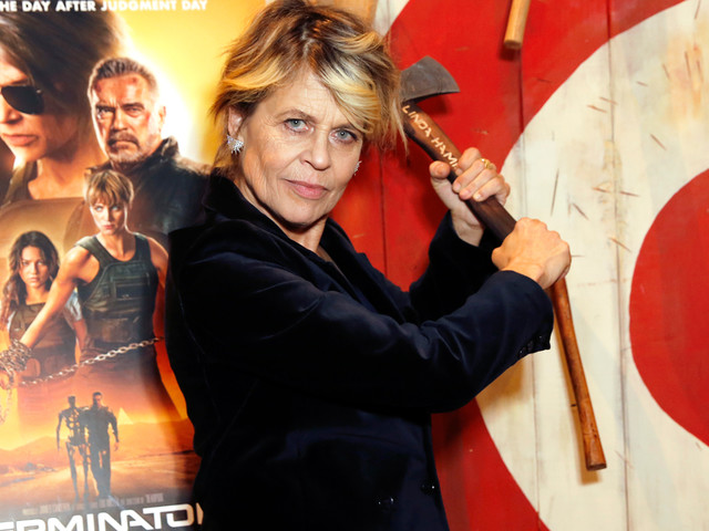 Linda Hamilton Tells Kimmel She Wasn't In A Rush To Call Ex James Cameron Back About 'Terminator: Dark Fate'