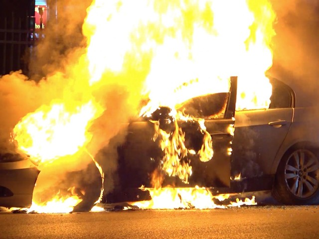 After fleeing crash, BMW driver watches car burn from back of police car, Harris County sheriff says