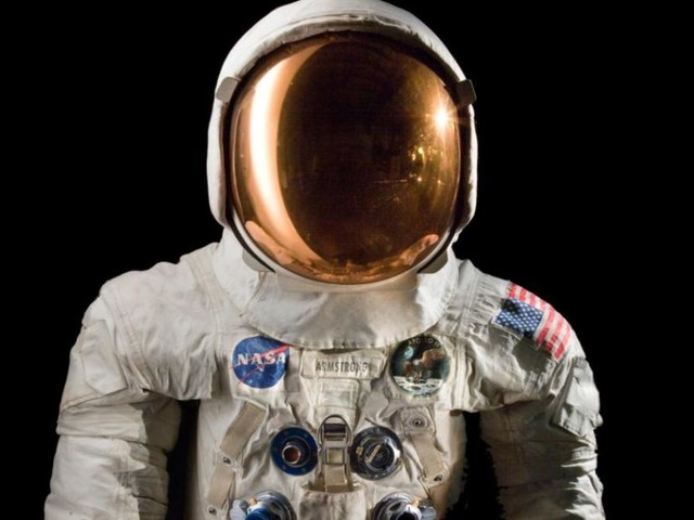 Neil Armstrong's spacesuit goes on display 50 years after historic launch
