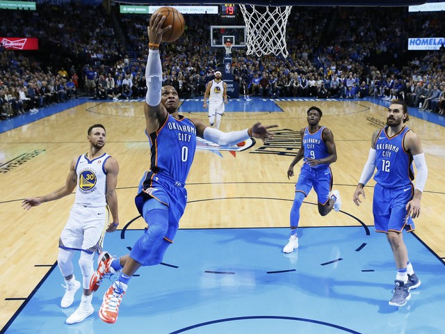 Warriors have no answer for Russell Westbrook, Thunder in blowout loss
