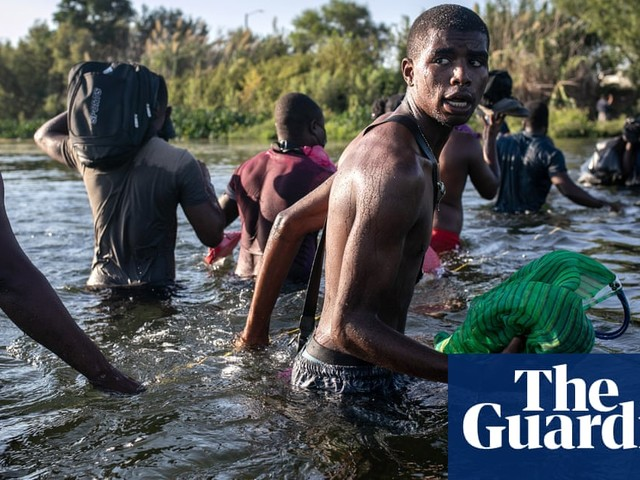 Haitian migrants and refugees cross the Rio Grande – in pictures