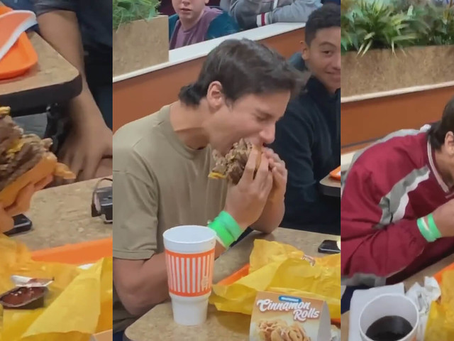 Teen consumes ungodly amount of meat, becomes meme
