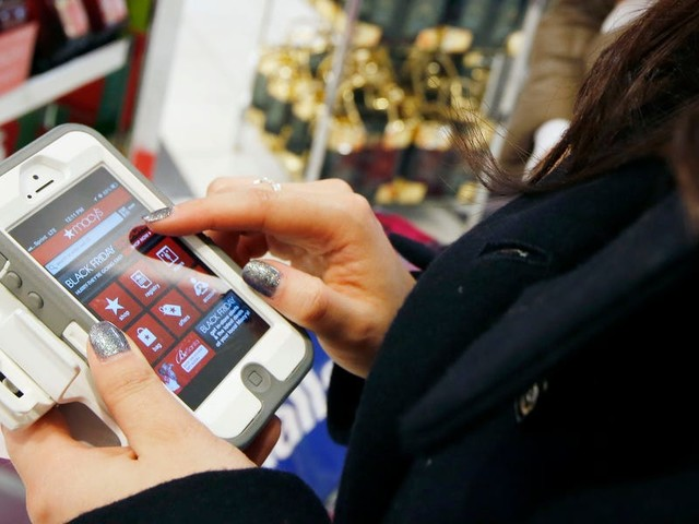 Black Friday online spending is soaring to new highs as people do more and more of their shopping on their phones