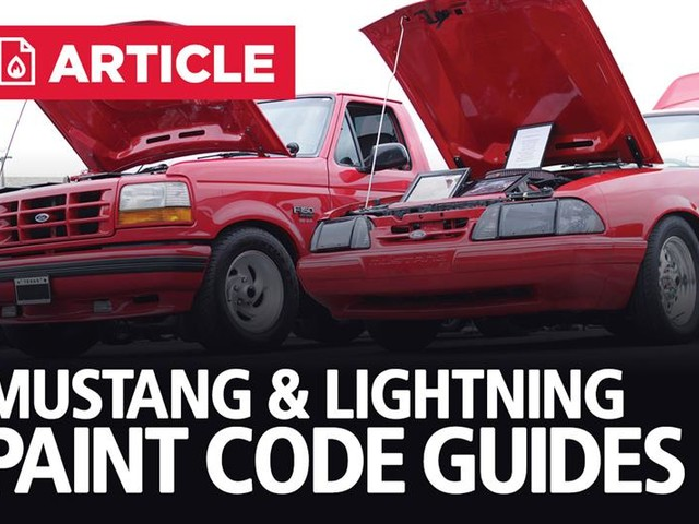 Ford Mustang & Lightning Paint Code Guides