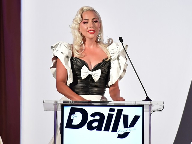 Lady Gaga Rocks Leather on Daily Front Row Awards Red Carpet – Photos
