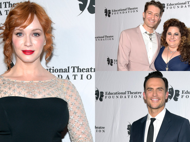 Christina Hendricks, Matthew Morrison & Cheyenne Jackson Step Out for Thespians Go Hollywood Gala!