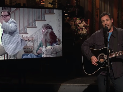 Watch Adam Sandler Perform A Chris Farley Tribute Song On SNL