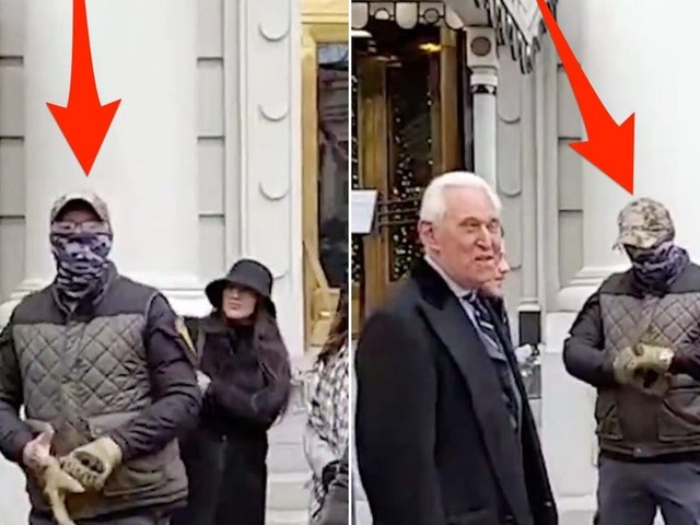 New video shows long-time Trump advisor Roger Stone surrounded by far-right Oath Keepers just hours before the Capitol riot