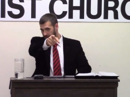 Pastor teaches congregation how to avoid a 'flaming fruit loop' waiter