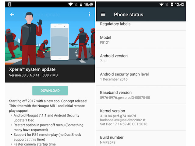 Sony Xperia X Android 7.1.1 Nougat Update Released