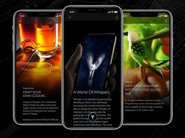Rolls Royce Whispers aims to immerse clients into the luxury world