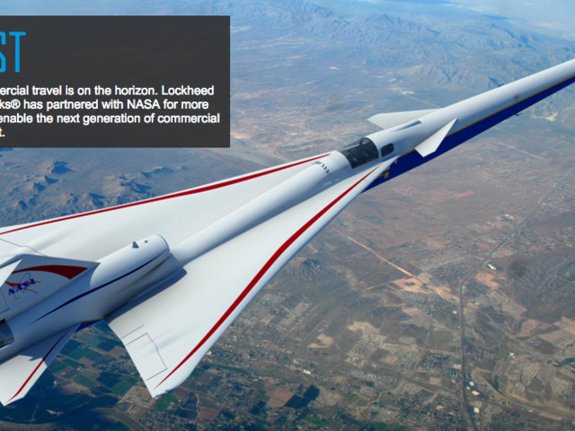 Lockheed To Build NASA A Supersonic Jet Without The Sonic Boom
