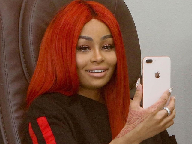 Blac Chyna Rocked Temporary Red Hair This Weekend
