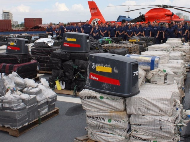 The Coast Guard's 'push-out-the-border strategy' is fighting drugs in the Pacific — and it just brought home $500 million in cocaine