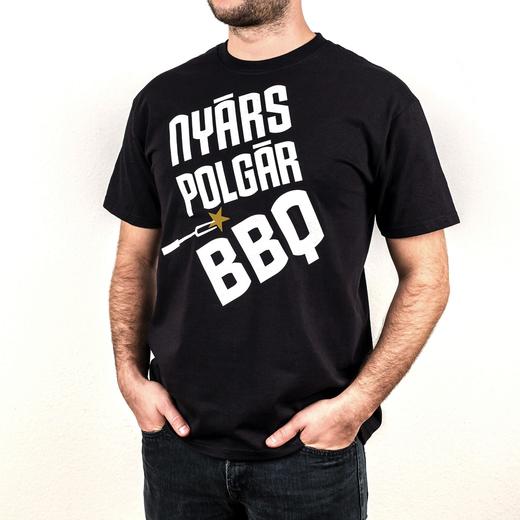 Team nyarspolgar bbq polo fekete 1