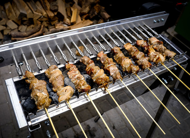 Tecnoroast grill optimalis hoelosztas es forgasi sebesseg lamb 05 arrosticini