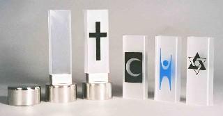Bårebiltaklys, komplett med 4 ulike symboler