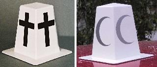 Kortesjemerke med kors