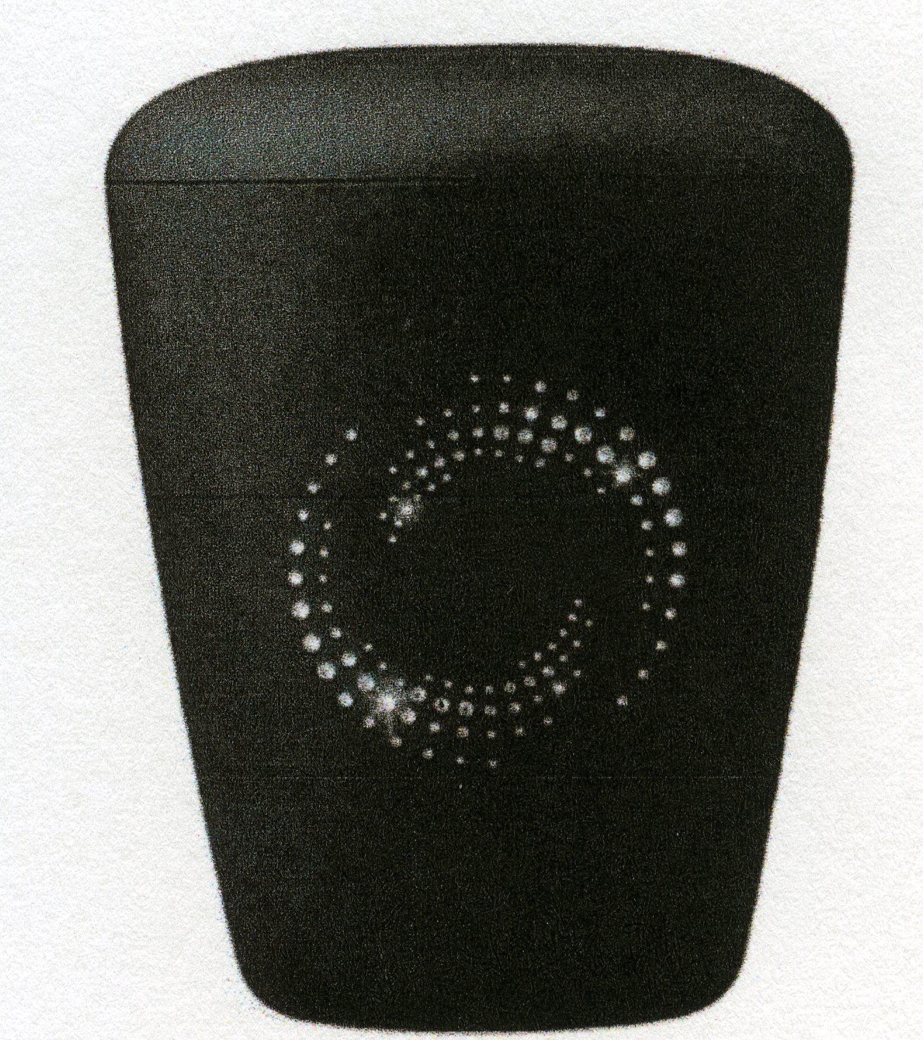 Urne med symbol i Swarovski krystaller