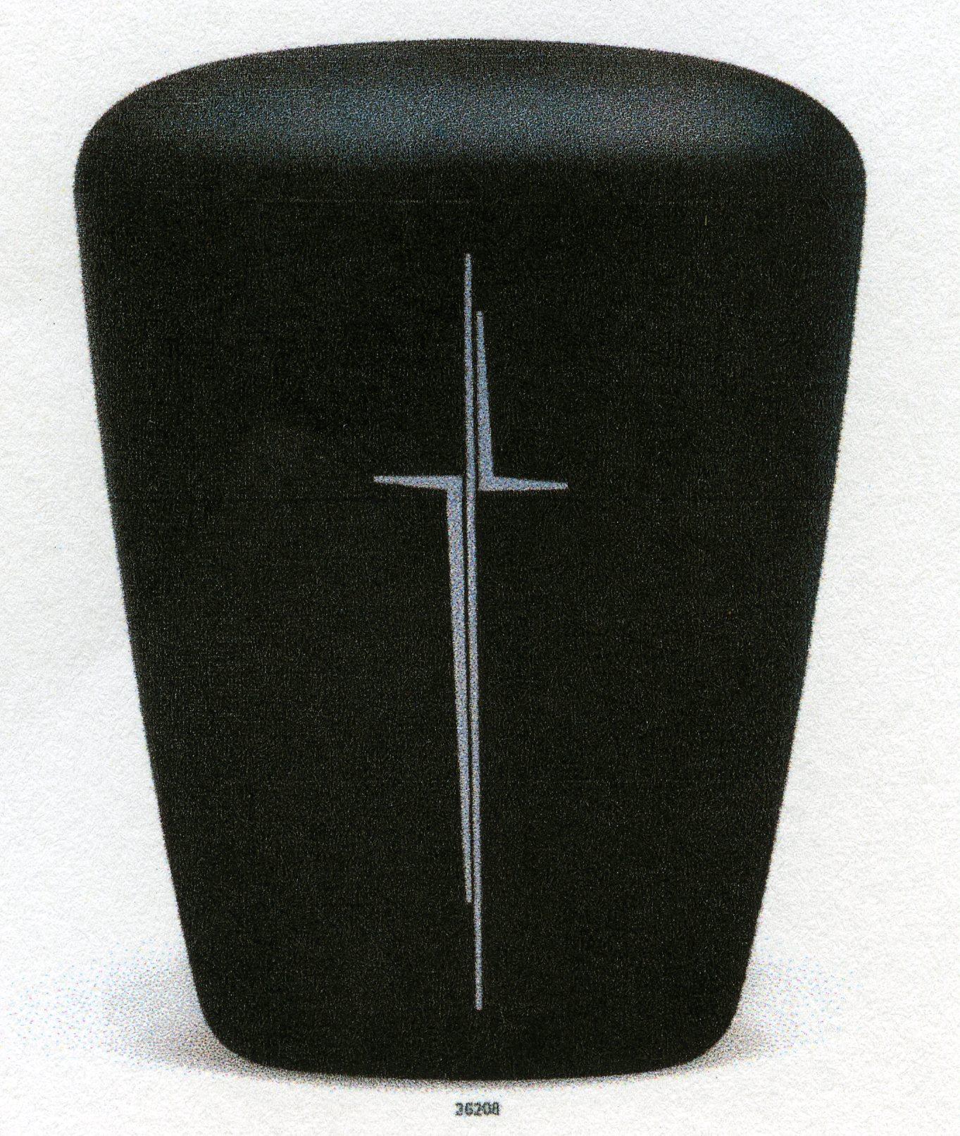 Urne med relief, farge sort
