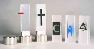 Bårebiltaklys, akrylsøyle/fot/arm