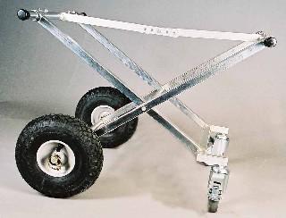 Enmannstralle , med sv.bare hjul