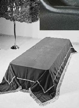 Stort katafalkteppe i svart velour