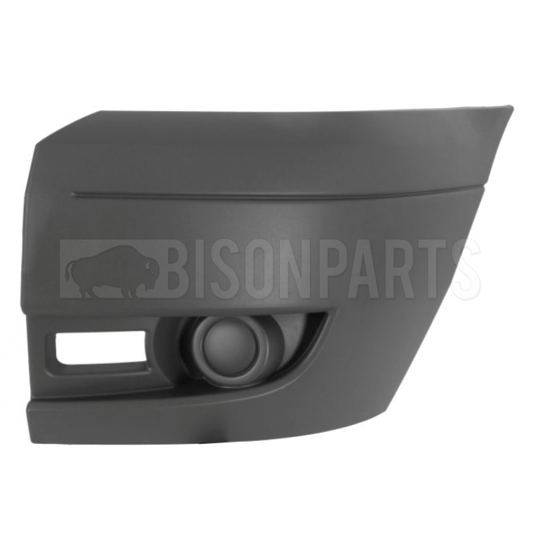 Ford Transit MK7 (2006-2014) Front Bumper Outer Light Grey Section - No Lamp Holes Passenger Side (N/S)