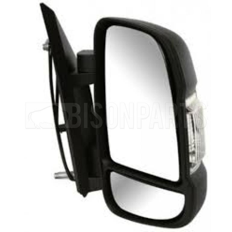 Right OS Offside Drivers Side Black Manual S Arm Door Wing Mirror Unit