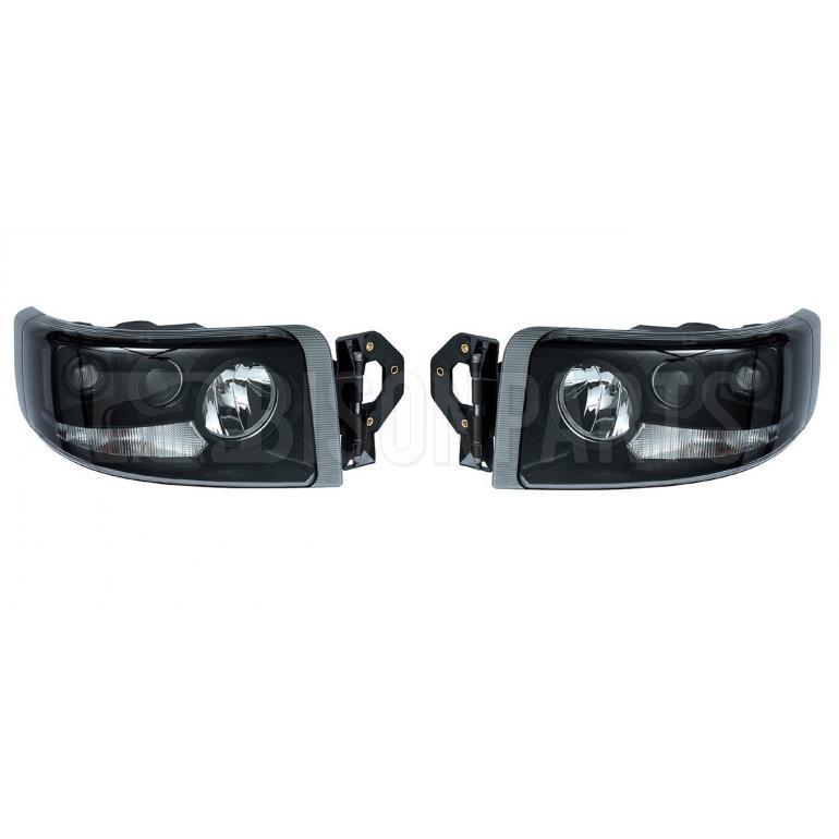 Renault Premium Version 2 (05-10) Version 3 (10 On) Headlight / Headlamp Smoked Lens (4 Light Function) *Manual Adjust LH & RH (PAIR OF)